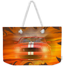 Bustin Thru Weekender Tote Bag by David and Lynn Keller