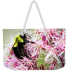 Weekender Tote Bag featuring the photograph Busy As A Bumblebee by Ricky L Jones