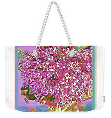Weekender Tote Bag featuring the photograph Busy Bee IIi by Shirley Moravec