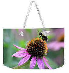 Weekender Tote Bag featuring the photograph Busy Bee by Trina Ansel