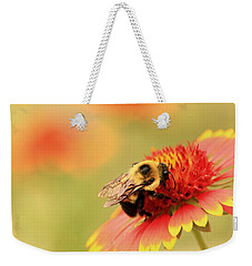 Weekender Tote Bag featuring the photograph Busy Bumblebee by Chris Berry