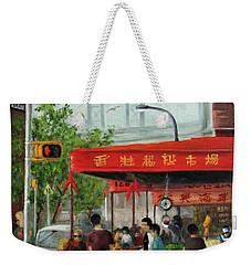 Busy Corner Weekender Tote Bag