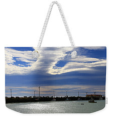 Weekender Tote Bag featuring the photograph Busy Day At The Wharf by Nareeta Martin