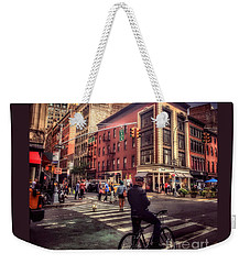 Busy Day In The City Weekender Tote Bag