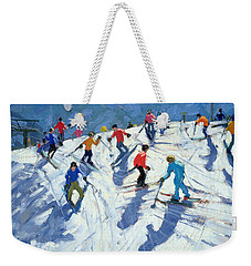 Busy Ski Slope Weekender Tote Bag