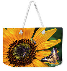 Busy Sunflower Weekender Tote Bag
