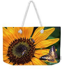 Busy Sunflower Weekender Tote Bag