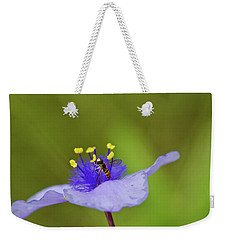 Busy Visitor - Syrphid Fly On Spiderwort Weekender Tote Bag
