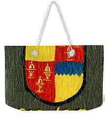 Weekender Tote Bag featuring the painting Butler Family Shield by Barbara McDevitt
