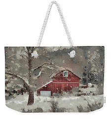 Weekender Tote Bag featuring the mixed media Butter Lane by Trish Tritz