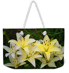 Weekender Tote Bag featuring the photograph Buttercreams by Kathryn Meyer