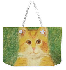 Weekender Tote Bag featuring the drawing Buttercup by Denise Fulmer