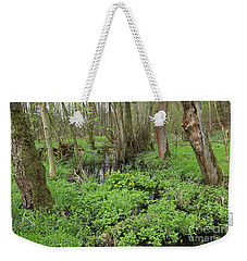 Buttercups In Wetlands Weekender Tote Bag by Michal Boubin