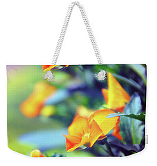 Weekender Tote Bag featuring the photograph Buttercups by Jessica Jenney
