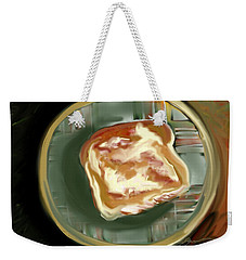 Weekender Tote Bag featuring the painting Buttered Toast by Jean Pacheco Ravinski