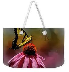 Butterflies And Cone Sflowers Weekender Tote Bag