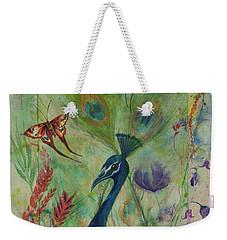 Butterflies And Peacock Weekender Tote Bag