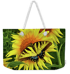 Butterflies And Sunflowers Weekender Tote Bag