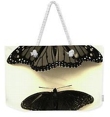 Butterflies In Monochrome Weekender Tote Bag by Mary Ellen Frazee