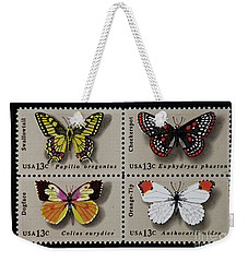 Butterflies Postage Stamp Print Weekender Tote Bag