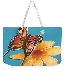 Butterflower Weekender Tote Bag