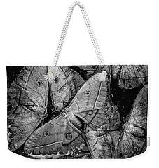 Butterfly #2056 Bw Weekender Tote Bag