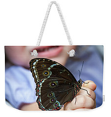 Butterfly A Helping Hand Weekender Tote Bag by Ron White