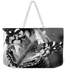 Butterfly American Lady Weekender Tote Bag