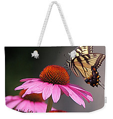 Butterfly And Coneflower Weekender Tote Bag by Byron Varvarigos