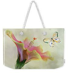 Butterfly And Fiesta Hibiscus Weekender Tote Bag