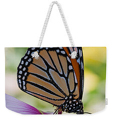 Butterfly And Hibiscus Weekender Tote Bag