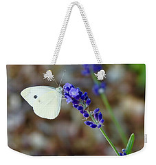 Butterfly And Lavender Weekender Tote Bag