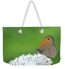 Weekender Tote Bag featuring the photograph Butterfly by Bess Hamiti