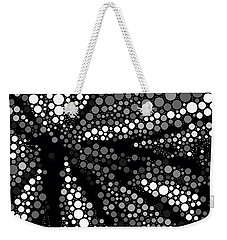 Butterfly Black And White Abstract Weekender Tote Bag