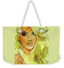 Butterfly Blonde Weekender Tote Bag by P J Lewis