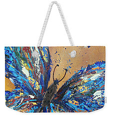 Butterfly Blue Weekender Tote Bag