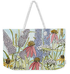 Butterfly Bush In Garden Weekender Tote Bag