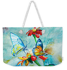 Butterfly Dance Weekender Tote Bag by Jasna Dragun