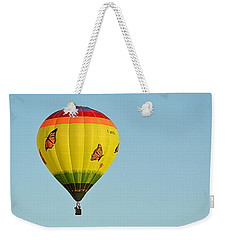Weekender Tote Bag featuring the photograph Butterfly Designs by AJ Schibig