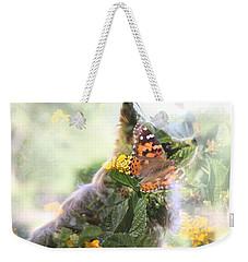 Butterfly Dog Weekender Tote Bag