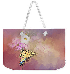 Weekender Tote Bag featuring the photograph Butterfly Dreams by Theresa Tahara