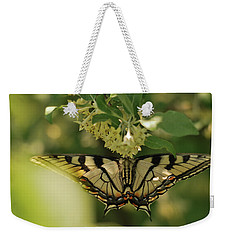 Weekender Tote Bag featuring the photograph Butterfly From Another Side by Susan Capuano