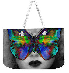 Butterfly Girl Weekender Tote Bag by Klara Acel