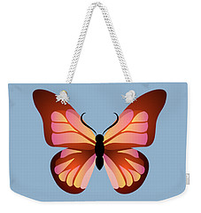 Butterfly Graphic Pink And Orange Weekender Tote Bag by MM Anderson