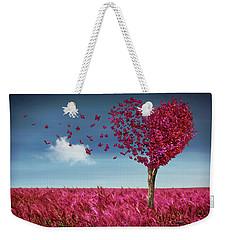 Butterfly Heart Tree Weekender Tote Bag