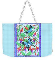 Butterfly Idyll-fuchsias Weekender Tote Bag