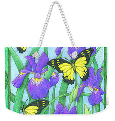 Butterfly Idyll-irises Weekender Tote Bag
