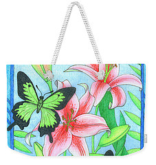 Butterfly Idyll- Lilies Weekender Tote Bag