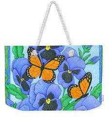 Butterfly Idyll-pansies Weekender Tote Bag