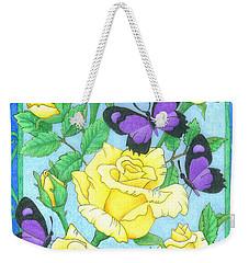 Butterfly Idyll-roses Weekender Tote Bag